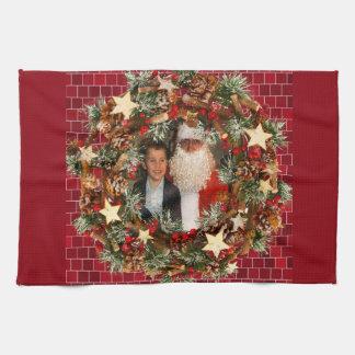Christmas Wreath Custom Photo Towel