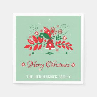 Christmas Wreath Decoration Disposable Napkin