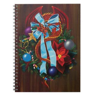 Christmas Wreath Dragon Notebook
