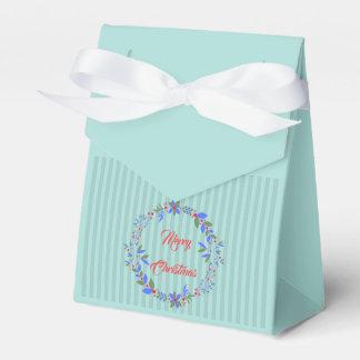 Christmas wreath favor box