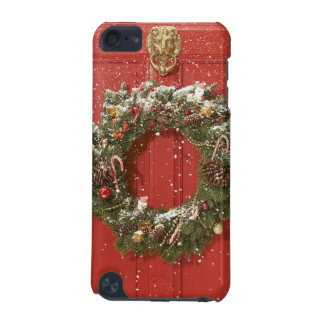 Christmas wreath hanging on a door iPod touch (5th generation) covers