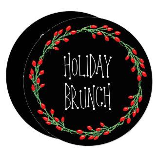 Christmas Wreath Holiday Brunch Card
