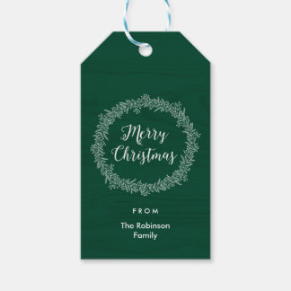 Christmas Wreath Holiday Gift Tag Pack Of Gift Tags