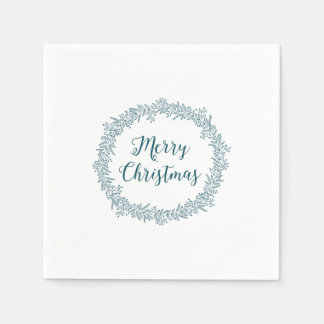 Christmas Wreath Holiday Napkin Disposable Napkin