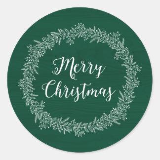 Christmas Wreath Holiday Sticker