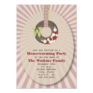 Christmas Wreath Housewarming Party Invitation