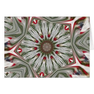 Christmas Wreath Kaleidoscope Card