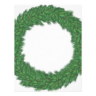 Christmas wreath letterhead