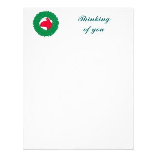 Christmas Wreath & Llama Christmas Card and more Customized Letterhead