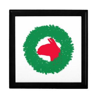 Christmas Wreath & Llama Christmas Card and more Gift Box