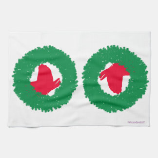 Christmas Wreath & Llama Christmas Card and more Kitchen Towels