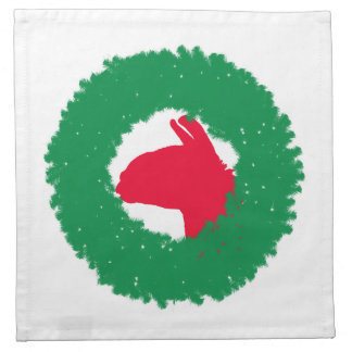 Christmas Wreath & Llama Christmas Card and more Napkin