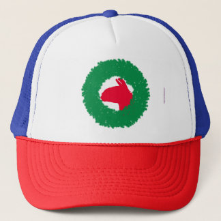 Christmas Wreath & Llama Christmas Card and more Trucker Hat