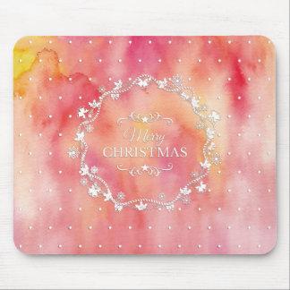 Christmas Wreath on Watercolor | Mousepad
