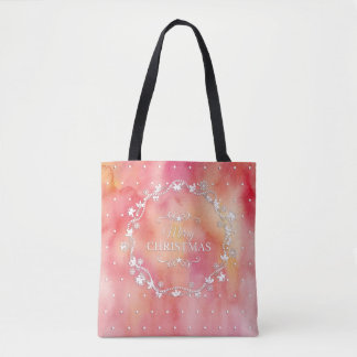 Christmas Wreath on Watercolor | Tote Bag