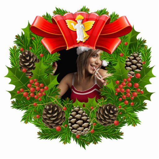 Christmas Wreath Ornament Customizable Photo Frame Photo Sculptures