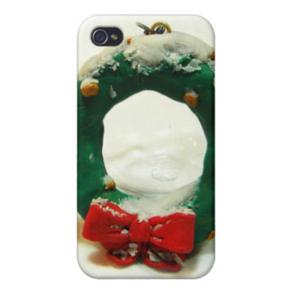 Christmas Wreath Ornament iPhone 4 Cases