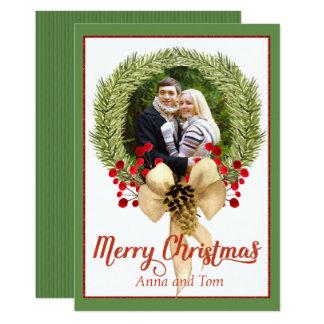Christmas Wreath Photo Card