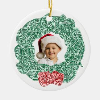 Christmas Wreath Photo Ornaments