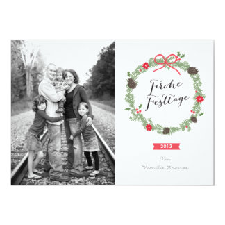 Christmas wreath photomap card