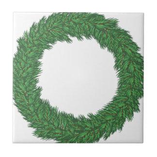 Christmas wreath tile
