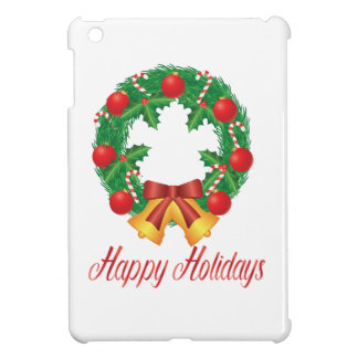 Christmas Wreath with Ornaments Bells and Candy iPad Mini Case