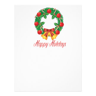 Christmas Wreath with Ornaments Bells and Candy Letterhead