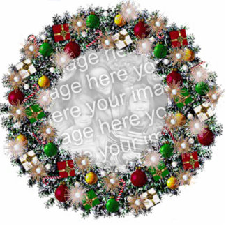 Christmas Wreath With Your Own Photo! Photo Sculpture Ornament