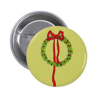 Christmas Wreaths Button