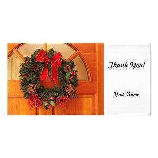 Christmas Wreaths Photo Cards