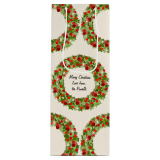 Christmas Wreaths Wine Gift Bag