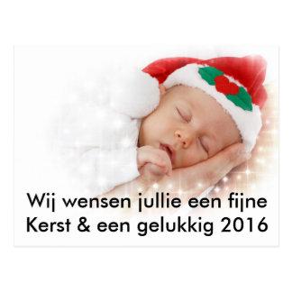 Christmas-wrong baby gives birth with Christmas Postcard