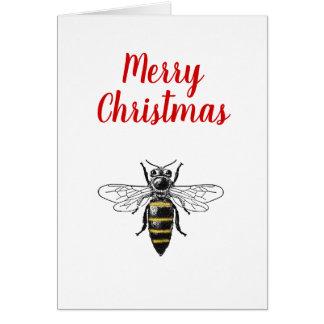Christmas Xmas Heraldic Vintage Bee #2 Color Card