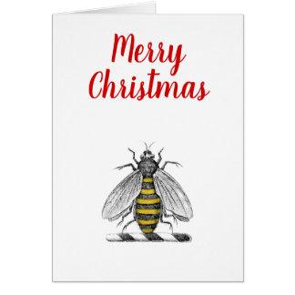Christmas Xmas Heraldic Vintage Bee Emblem C Card
