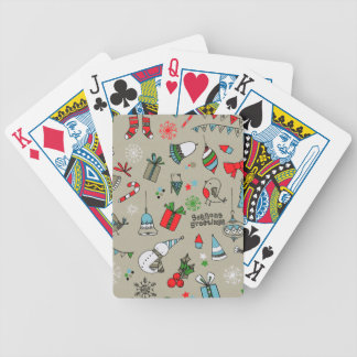 Christmas xmas pattern bicycle playing cards