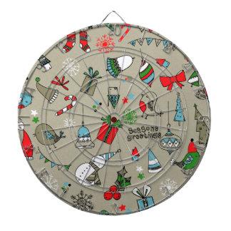 Christmas xmas pattern dartboard