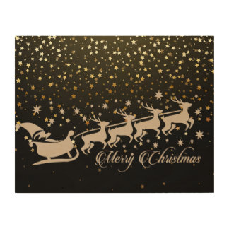 Christmas Xmas Wood Wall Art