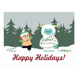 Christmas Yeti Postcard