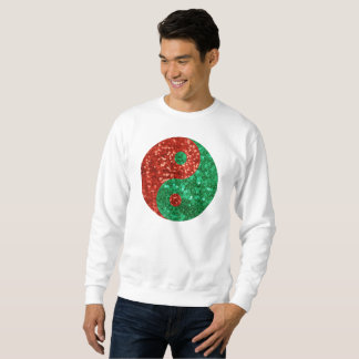 christmas yin yang mens sweatshirt