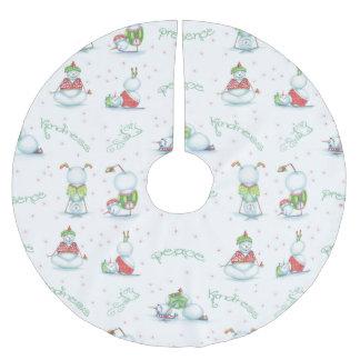 Christmas Yoga Snowman tree skirt