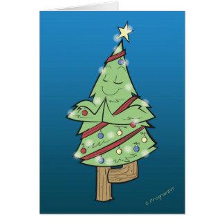 Christmas - Yoga Tree Pose Card
