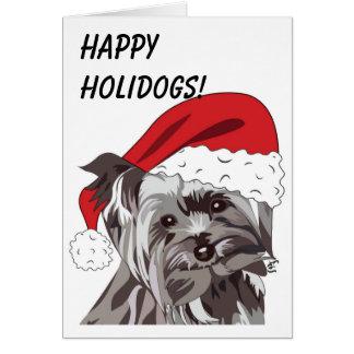 Christmas Yorkie Card