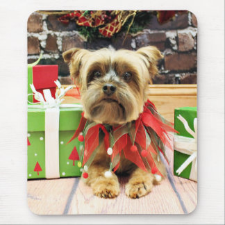 Christmas - Yorkie - Riley Mouse Pad