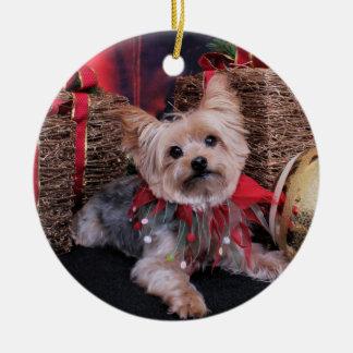 Christmas - Yorkshire Terrier - Vinnie Ceramic Ornament