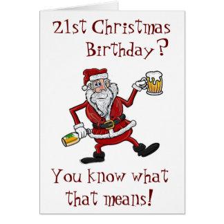CHRISTMAS & YOUR ***21ST*** BIRTHDAY=CELEBRATING CARD
