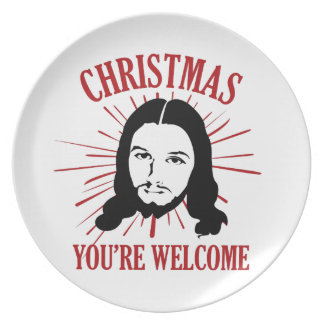 Christmas You're Welcome Party Plates