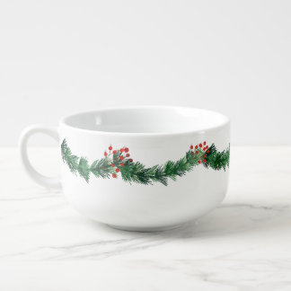Christmas Yuletide Red Berries Soup Mug