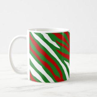 Christmas Zebra Stripes Coffee Mug