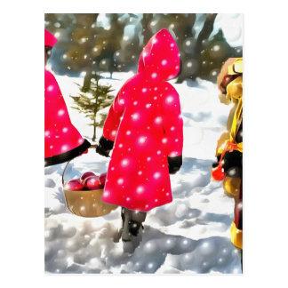 christmasgirlswithsanta_DAP_Re-Acrylic.jpg Postcard