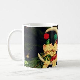 Christmas's mice on the Moon Coffee Mug